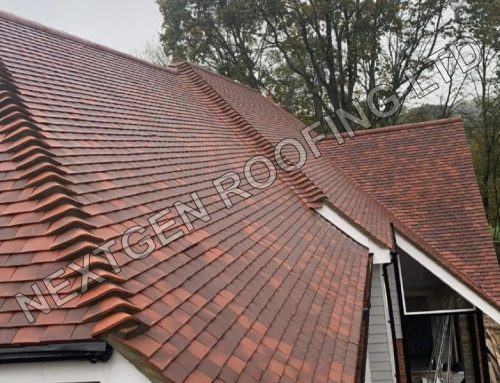 Plain Tile Pitched Roof Installation in West Chiltington West Sussex Feb 2021