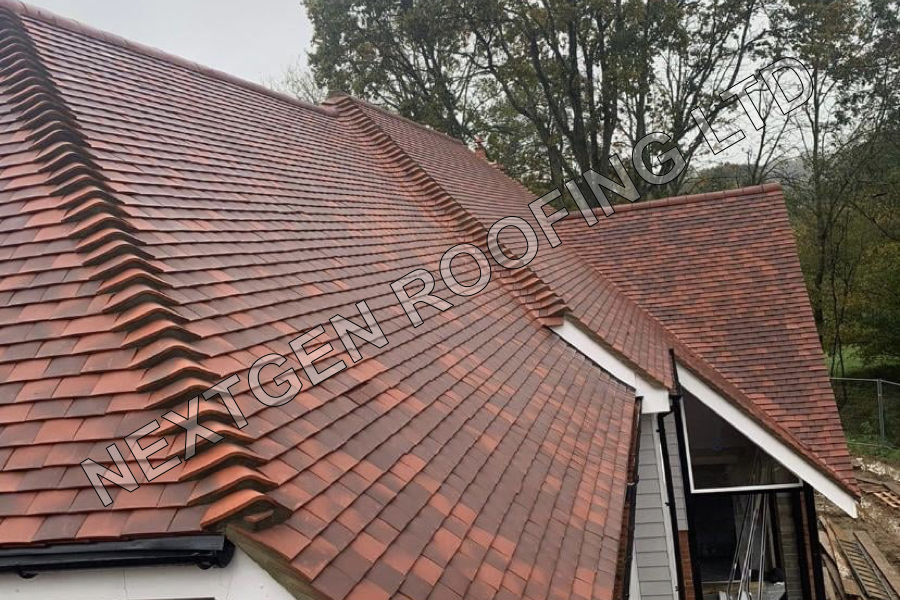 Plain Tile Pitched Roof Installation in West Chiltington West Sussex by NextGen Roofing Ltd - Roofing Contractors in Sussex