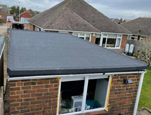 Torch-On Felt Flat Roof Replacement in Ferring March 2021