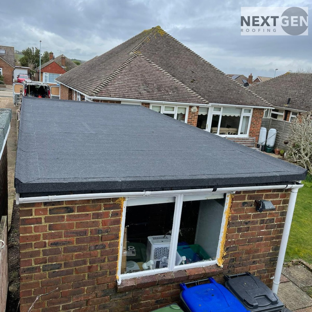 Torch-On Felt Roof Replacement in Ferring March 2021 by NextGen Roofing Ltd - Roofing Contractors in Sussex