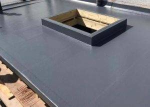 GRP Plastic Flat Roof Replacement Worthing March 2021 by NextGen Roofing Ltd - Roofing Contractors in Sussex