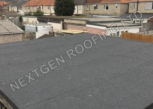 Garage Flat Roof Replacement With Torch-On Felt March 2021 by NextGen Roofing Ltd - Roofing Contractors in Sussex