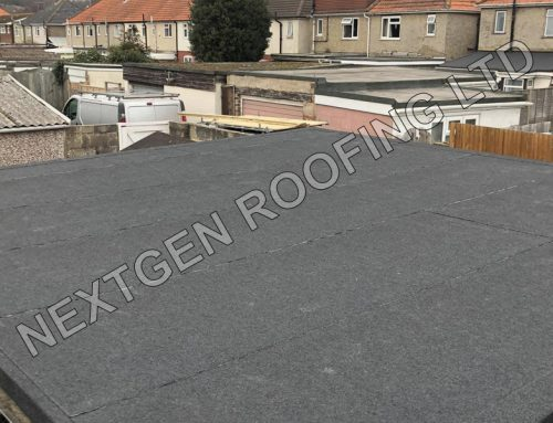 Garage Flat Roof Replacement With Torch-On Felt March 2021