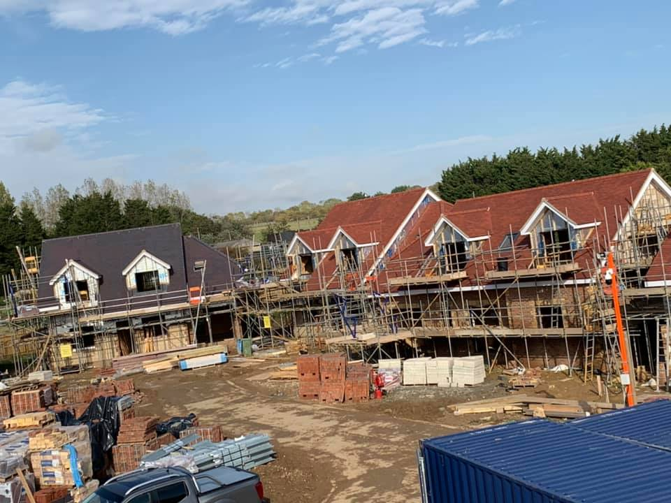 Rosemary Plain Tile Pitched Roof Installations on 15 New Build Homes in Angmering October 2020 by NextGen Roofing Ltd - Roofing Contractors in Sussex