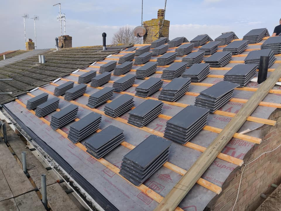 Terraced Pitched Roof Replacement in Rustington December 2020 by NextGen Roofing Ltd - Roofing Contractors in Sussex