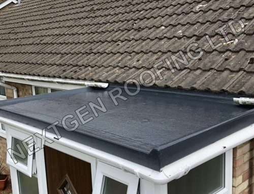 GRP Flat Roof Installation on a New Porch in Rustington April 2021