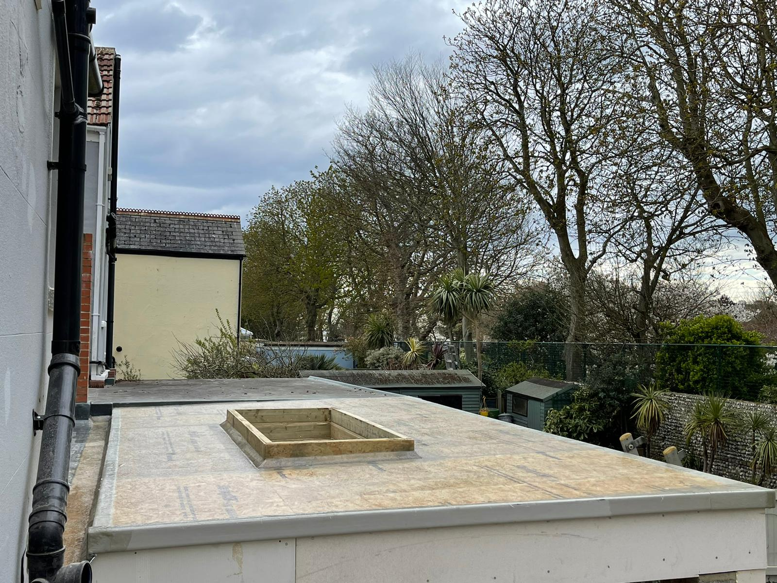 GRP Flat Roof on a New Extension in Worthing April 2021 by NextGen Roofing Ltd - Roofing Contractors in Sussex
