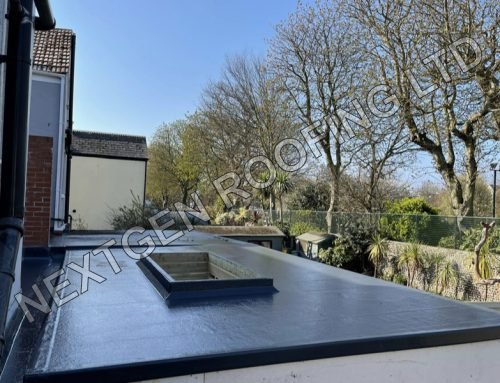 GRP Flat Roof on a New Extension in Worthing April 2021