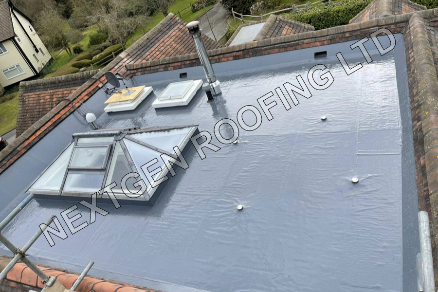 Ultraflex Liquid Rubber Flat Roof Replacement in Horsham April 2021