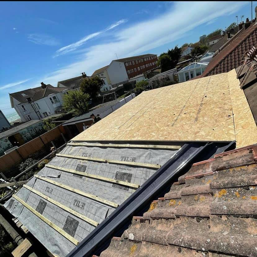 Tiled & Flat Roof for a New Extension in Worthing June 2021 by NextGen Roofing Ltd - Roofing Contractors in Sussex